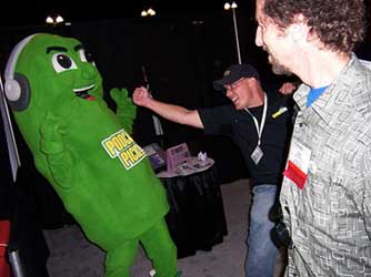 North Carolina School of the Arts: The Fighting Pickle Mascot